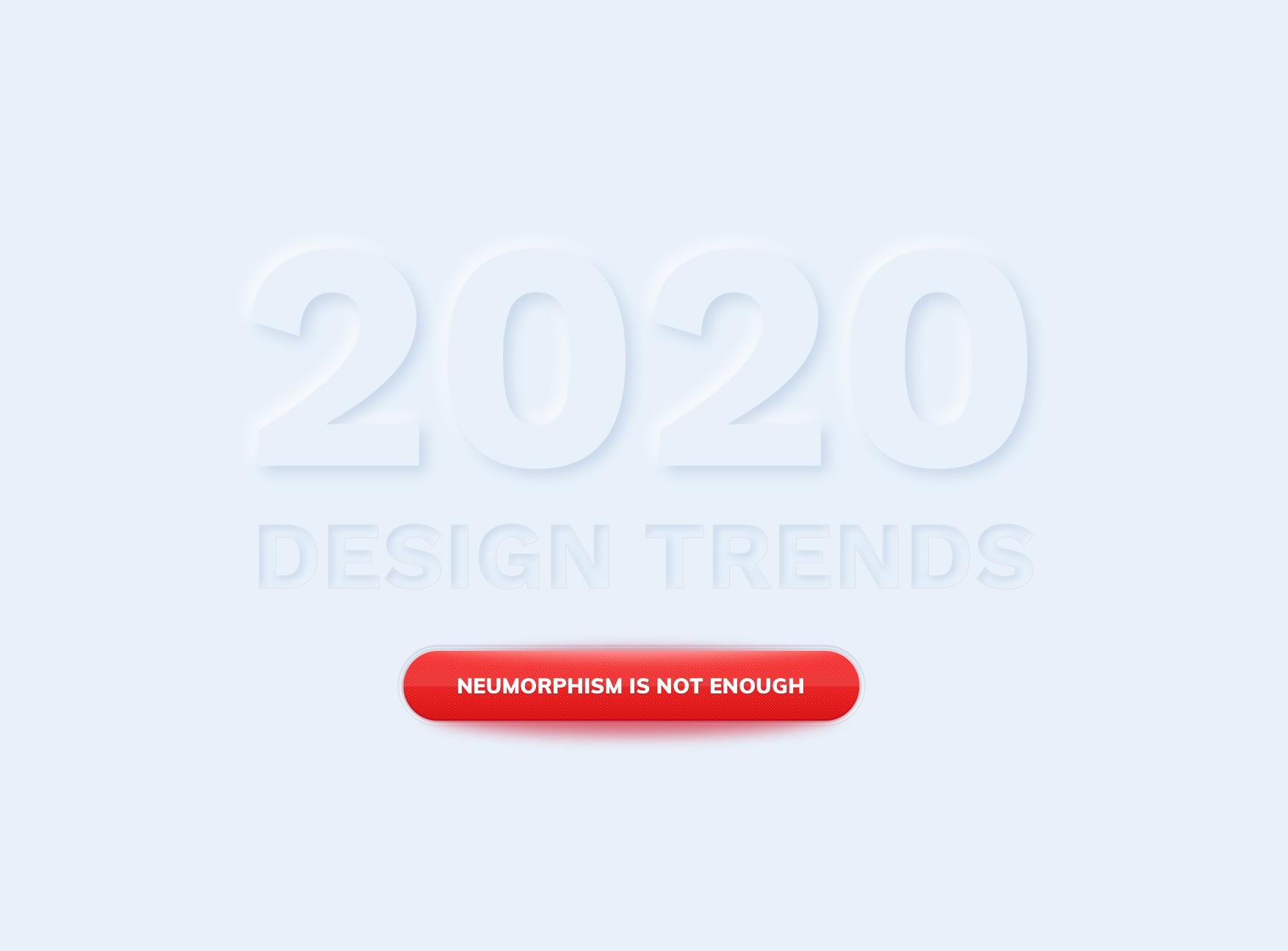 Le neumorphism, la nouvelle tendance design de 2020 ?